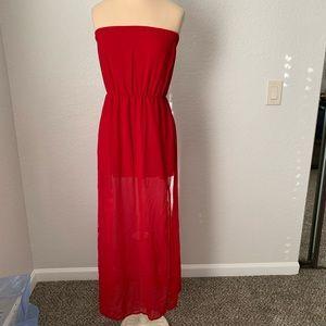 Scarlet Red Strapless Dress